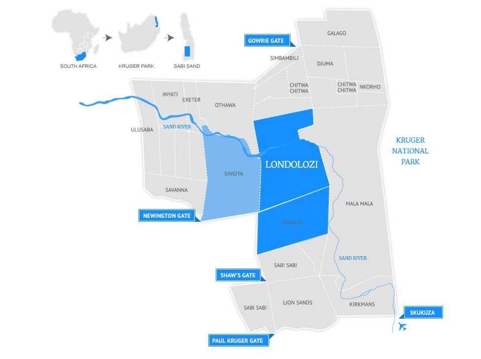 Map of Londolozi